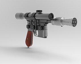 Han Solo Blaster DL-44 3D model