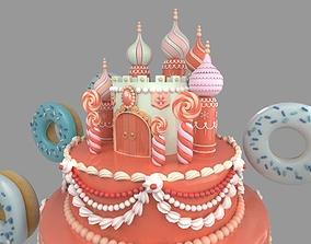 carstle cake 3D