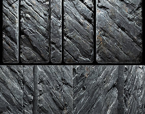 Slab stone wall n3 3D
