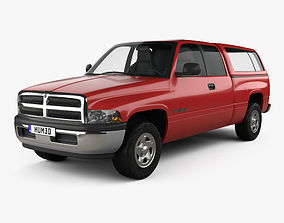 3D model Dodge Ram 1500 Club Cab ST 1999