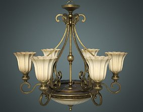 Classic Chandelier 01 - Game Ready 3D model