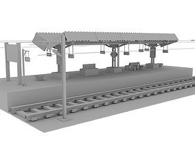 Railway Platform India style 3D architectural