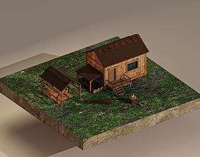 Sawmill Level 1 3D asset game-ready