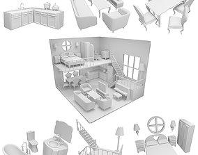 CNC cut and Printable Dollhouse