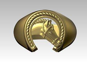 Horse Shoe Ring 3D printable model