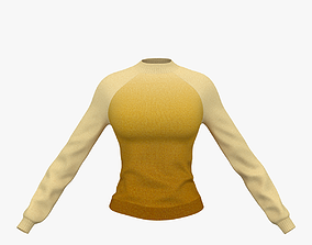 3D model Knitted sweater for girl