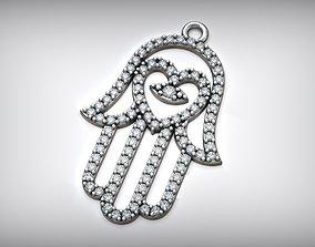 3D printable model Hamsa Maghreb Amulet Fatima Hand