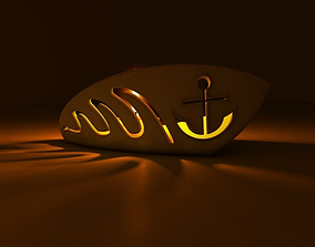 Boat candle holder 3D model