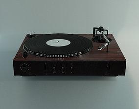 3D model retro record player