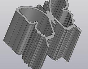 Pencil holder Desk organizer Butterfly 3D print model