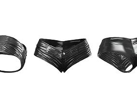 3D model Shiny Latex Mini Shorts