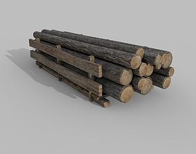 3D model Wood logs A