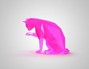 3D print model low poly cat 2