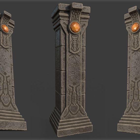 Game Art : Crystal Column