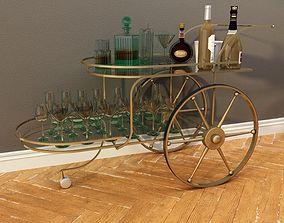3D Bar Cart