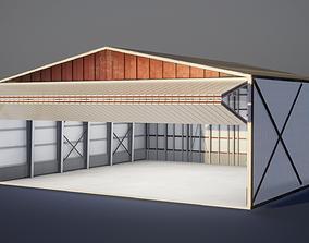 Airplane Hangar 3D Model VR / AR ready