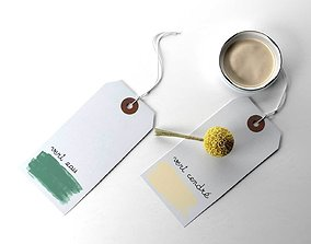 3D model Farrow and Ball Tags with Cap