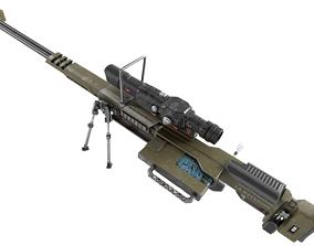 3D model Weapon hard surface machine gun