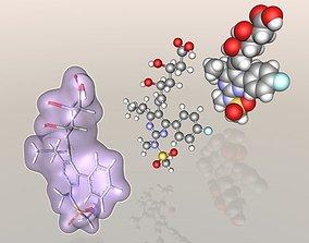 3D Rosuvastatin molecule