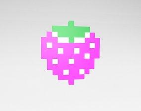 3D model Pixel Strawberries v1 003