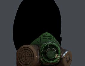 Gas mask helmet 3d model realtime 5