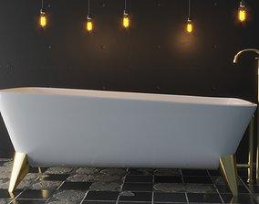 3D asset VR / AR ready Luxury Bath Tub