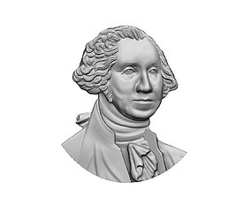 Washington portrait relief 3D print model