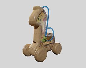3D model low-poly Children Toy Giraffe