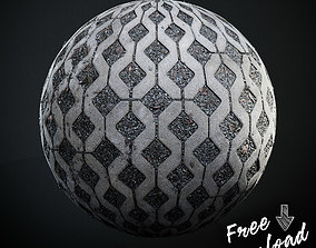 3D model FREE Scanned Parking Grid PBR Textures Seamless