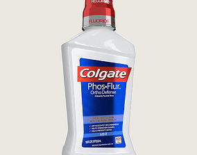 3D asset Colgate Mouthwash