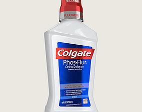 3D asset Colgate Mouthwash Bottle