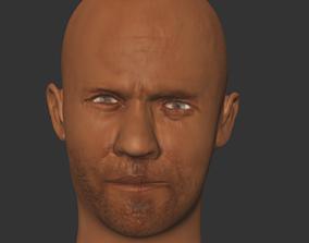 low-poly jason statham actor hollwood printer3D
