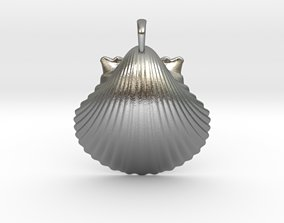 Scallop shell Pendant 3D print model
