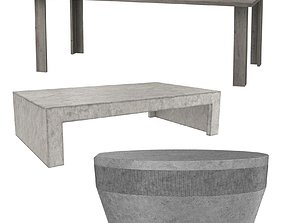 Three tables collection 3D model