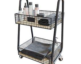 Lewis Storage Cart Bath Set 3D model