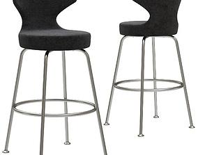 BB Papilio bar stool 3D model