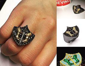 lion ring jewelry designer 3D printable model