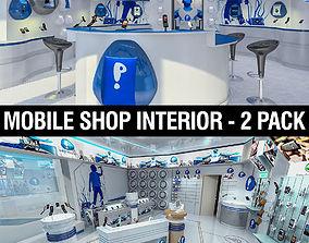 3D model Mobile Shops Collection