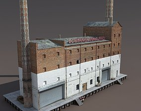 realtime Abandoned Old Factory Low Poly 3d Model