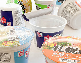 Instant cup noodle - Large 3D model