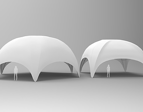 3D model Hexadome and Crossover Tents
