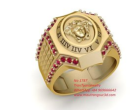 1787 Luxury Diamond Versace Ring 3D printable model