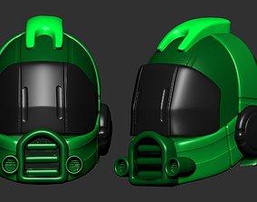 helmet high poly sculpt 3d printable isolated