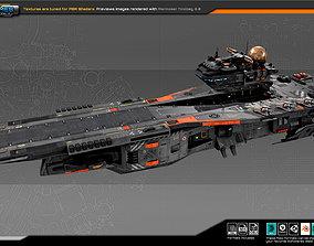 3D asset SF Federation Supercarrier GB4