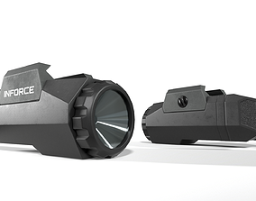 Inforce APL Handgun Weapon Mounted Light 3D asset