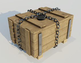 Wood Box other 3D asset realtime