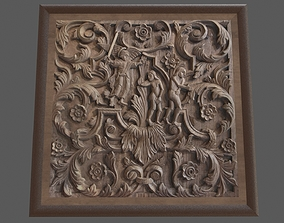 Wood Carving 3D asset