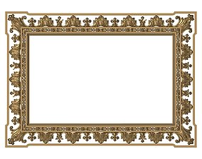 3D model Carved Picture Frame