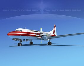 3D model Convair CV-580 Lincoln Airways