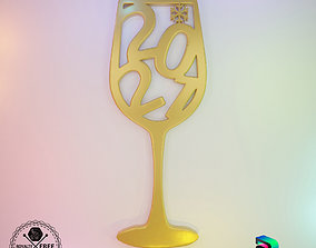 3D Ornament - 2021 Wine Glass